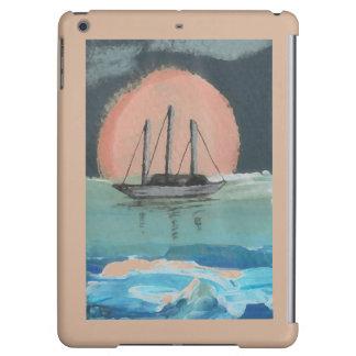 CricketDiane iPad Case Sailboat Sun Camel Color