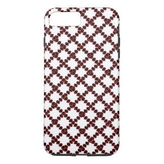 CricketDiane Jewel Pattern Wine Red White Trellis iPhone 7 Plus Case