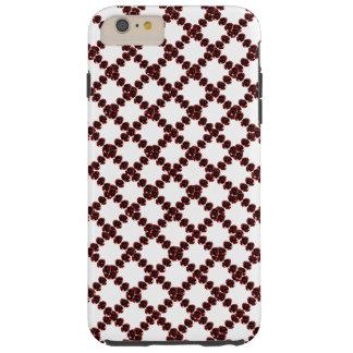 CricketDiane Jewel Pattern Wine Red White Trellis Tough iPhone 6 Plus Case