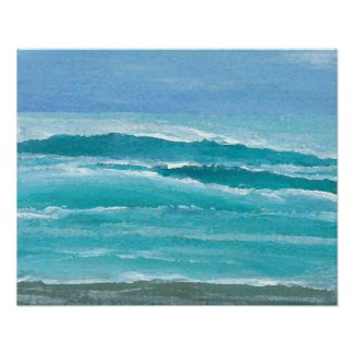 CricketDiane Ocean Beach Poster - Gentle Surf