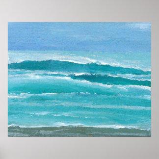 CricketDiane Ocean Poster - Gentle Surf