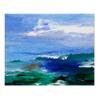 CricketDiane Ocean Poster Impressionist Ocean View
