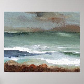 CricketDiane Ocean Poster - Moody Sea