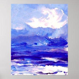 CricketDiane Ocean Poster - Ocean's Song Seascape