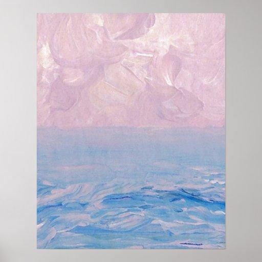 CricketDiane Ocean Poster - Pastel Morning