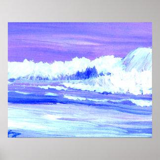 CricketDiane Ocean Poster - Purple Amber Sea