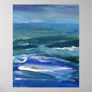 CricketDiane Ocean Poster Rainy Sea
