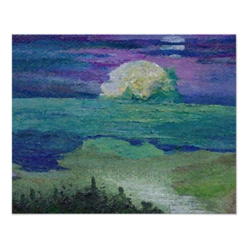 CricketDiane Ocean Poster - Sun and Moon Seaside