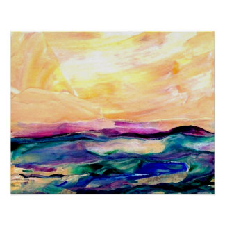 CricketDiane Ocean Poster - Sun Glow
