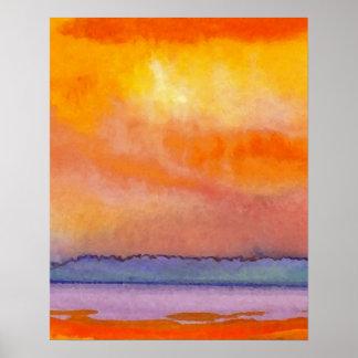CricketDiane Ocean Poster - Sun Scape Seascape