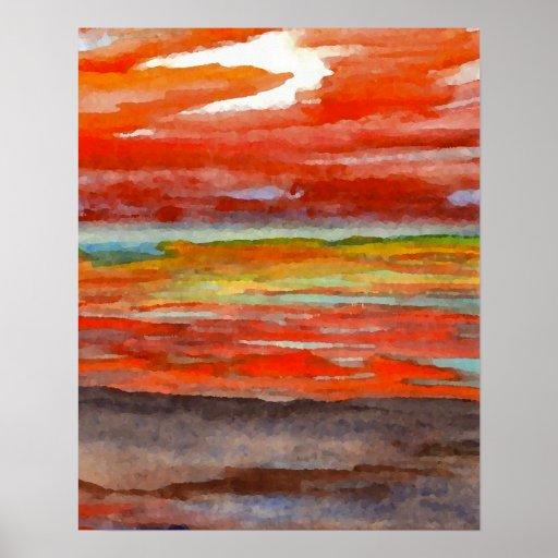 CricketDiane Ocean Poster - Sunset Sonatina