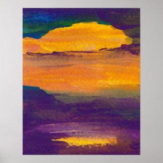 CricketDiane Ocean Poster Transcendence Sunset Sea