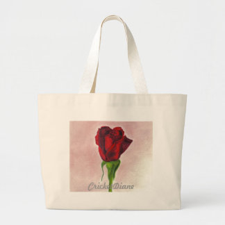 CricketDiane Red Elegant Rose Canvas Bag