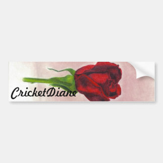 CricketDiane Red Elegant Rose Bumper Sticker