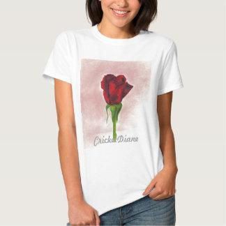 CricketDiane Red Elegant Rose T-Shirt
