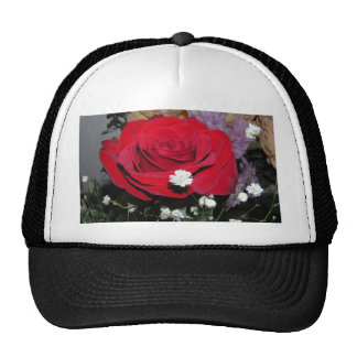 CricketDiane Red Rose and Silk Flowers Trucker Hat