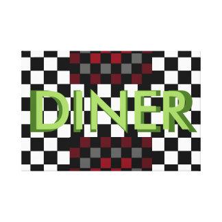 CricketDiane Retro Diner Art Kitchen Dining Patio Canvas Print