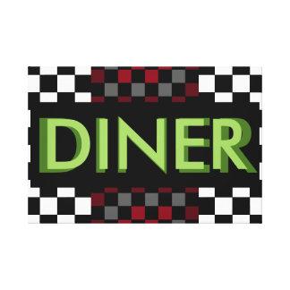 CricketDiane Retro Diner Bar Kitchen Dining Patio Canvas Print