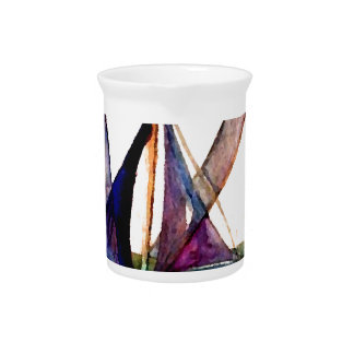 CricketDiane Sailboat Abstract 1 Sailing Beverage Pitchers