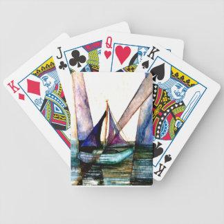 CricketDiane Sailboat Abstract 1 Sailing Bicycle Playing Cards