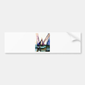 CricketDiane Sailboat Abstract 1 Sailing Bumper Sticker