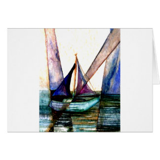 CricketDiane Sailboat Abstract 1 Sailing Card
