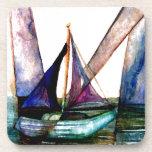 CricketDiane Sailboat Abstract 1 Sailing Beverage Coaster