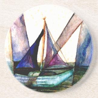 CricketDiane Sailboat Abstract 1 Sailing Drink Coaster