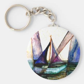 CricketDiane Sailboat Abstract 1 Sailing Keychain