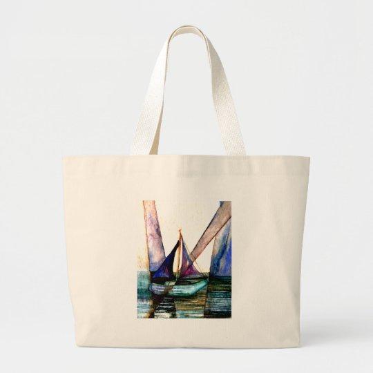CricketDiane Sailboat Abstract 1 Sailing Large Tote Bag