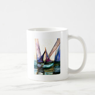 CricketDiane Sailboat Abstract 1 Sailing Classic White Coffee Mug