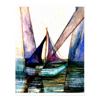 CricketDiane Sailboat Abstract 1 Sailing Postcard