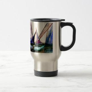 CricketDiane Sailboat Abstract 1 Sailing Travel Mug