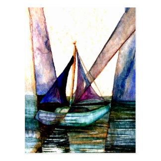 CricketDiane Sailboat Abstract 2 Sailing Postcard
