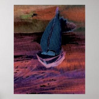 CricketDiane Sailing Poster  Quick Breeze Sailboat