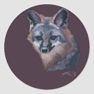 CricketDiane Wild Animal Art Mountain Fox Round Stickers