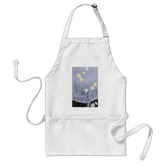 Crickets and Frogs Make Night Music Adult Apron