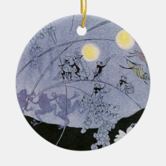 Crickets and Frogs Make Night Music Ceramic Ornament