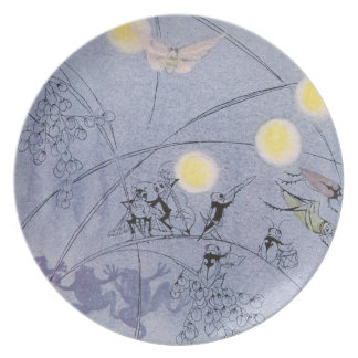 Crickets and Frogs Make Night Music Melamine Plate