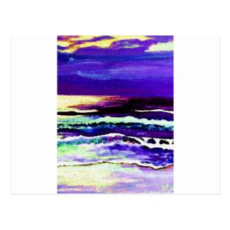 Cricket's Night Ocean Moonlight Ocean Waves Postcard