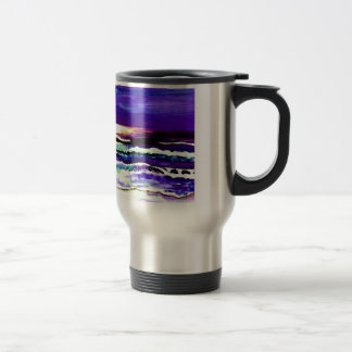 Cricket's Night Ocean Moonlight Ocean Waves Travel Mug