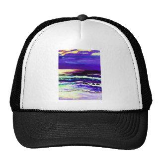 Cricket's Night Ocean Moonlight Ocean Waves Trucker Hat