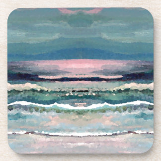 Cricket's Ocean - Beach Seascape Beverage Coaster