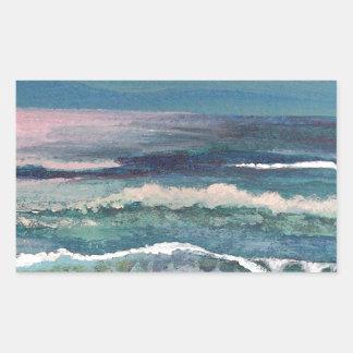 Cricket's Ocean - Beach Seascape Rectangular Sticker
