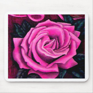 Cricket's Pink Rose Romantic Pretty Pastel Art Mouse Pad