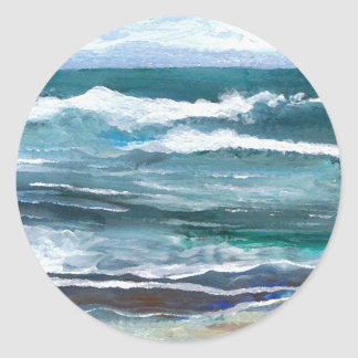 Cricket's Sea - CricketDiane Ocean Art Classic Round Sticker