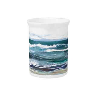 Cricket's Sea - Ocean Waves Beach Gifts Drink Pitcher
