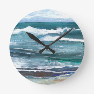 Cricket's Sea - Ocean Waves Beach Gifts Round Clock