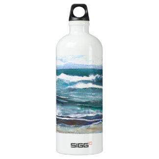 Cricket's Sea - Ocean Waves Beach Water Bottle