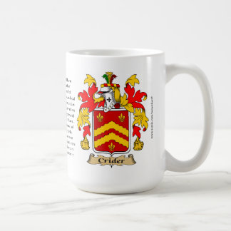 Crider, the Origin, the Meaning and the Crest Coffee Mug